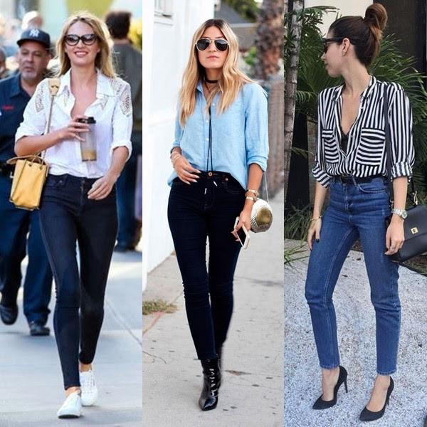 Camisa social com calça jeans