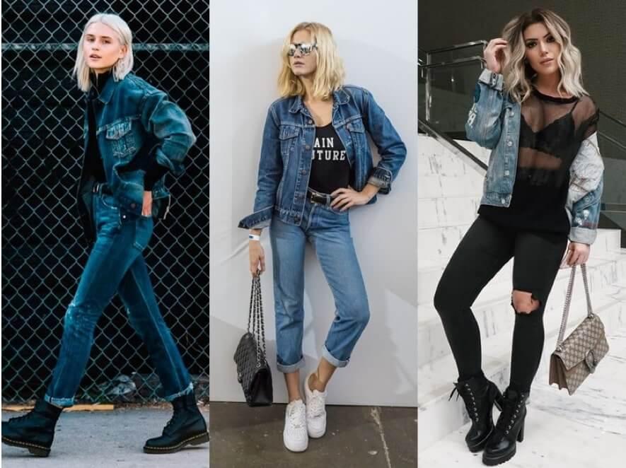 Como usar Jaqueta Jeans com Calça Jeans
