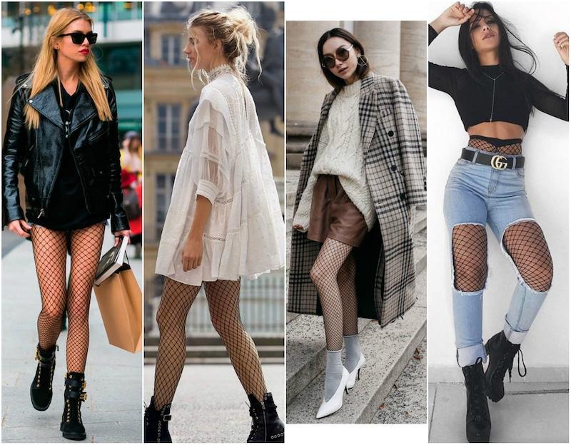 9 Tipos de Looks Com Meia Arrastão