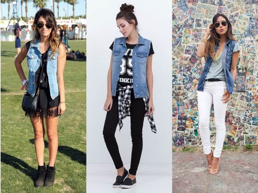 Como usar Jaqueta Jeans sem manga