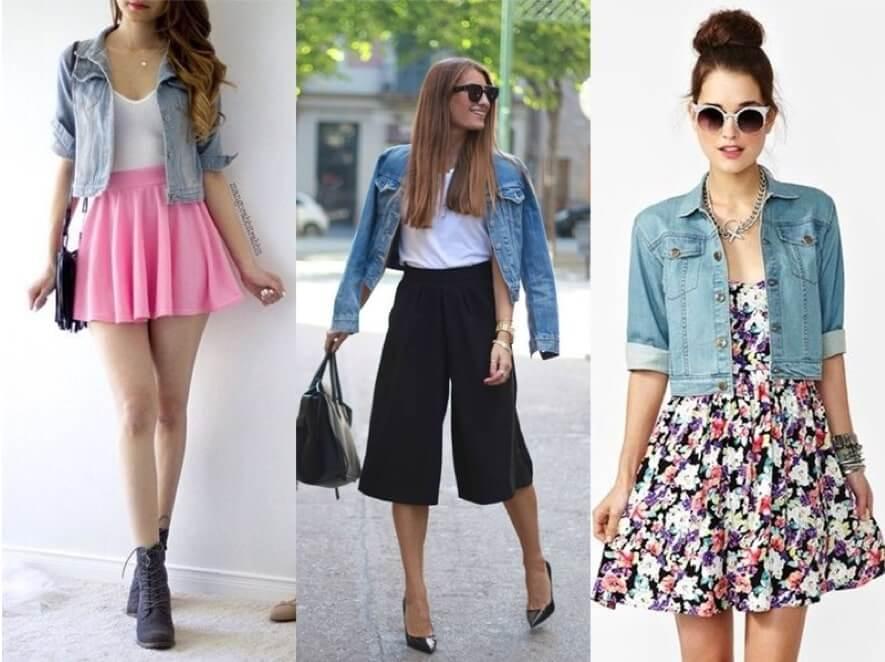 Como usar Jaqueta Jeans Curta