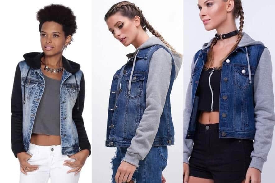 looks com Jaqueta Jeans com Moletom
