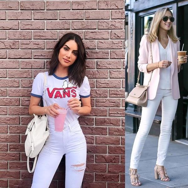 Calça jeans branca
