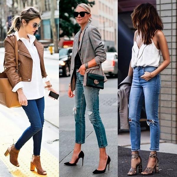 Calça jeans e salto