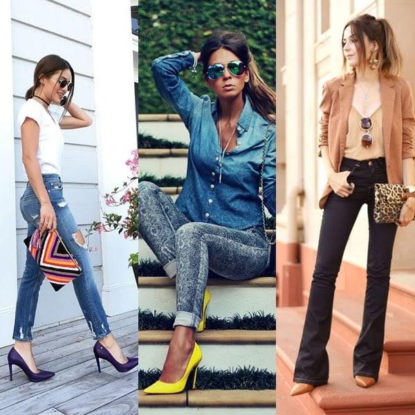 Calça jeans e scarpin