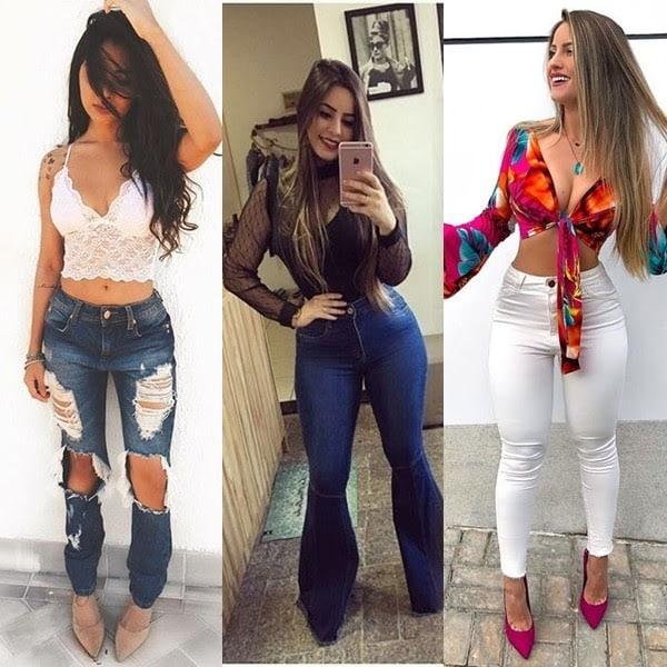 Calça jeans para festa