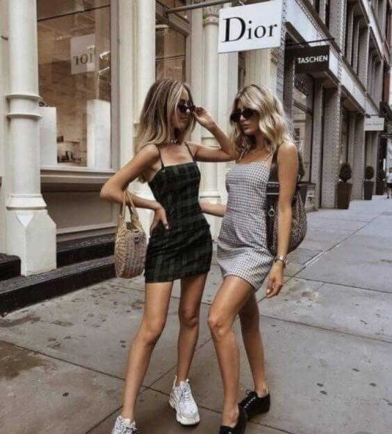 Looks Tumblr de verão com vestidos