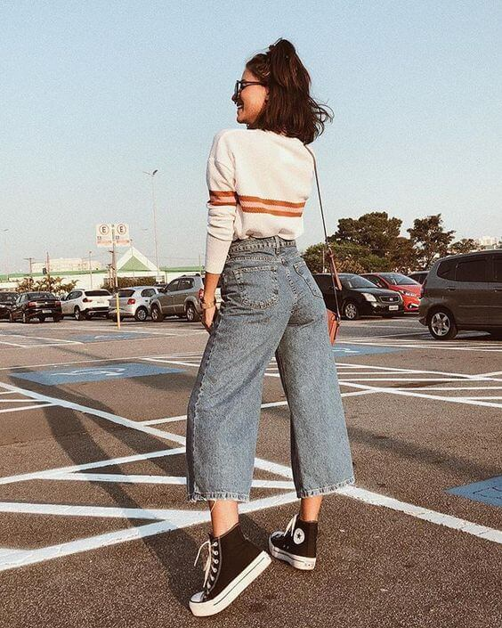 look tumblr com calça jeans