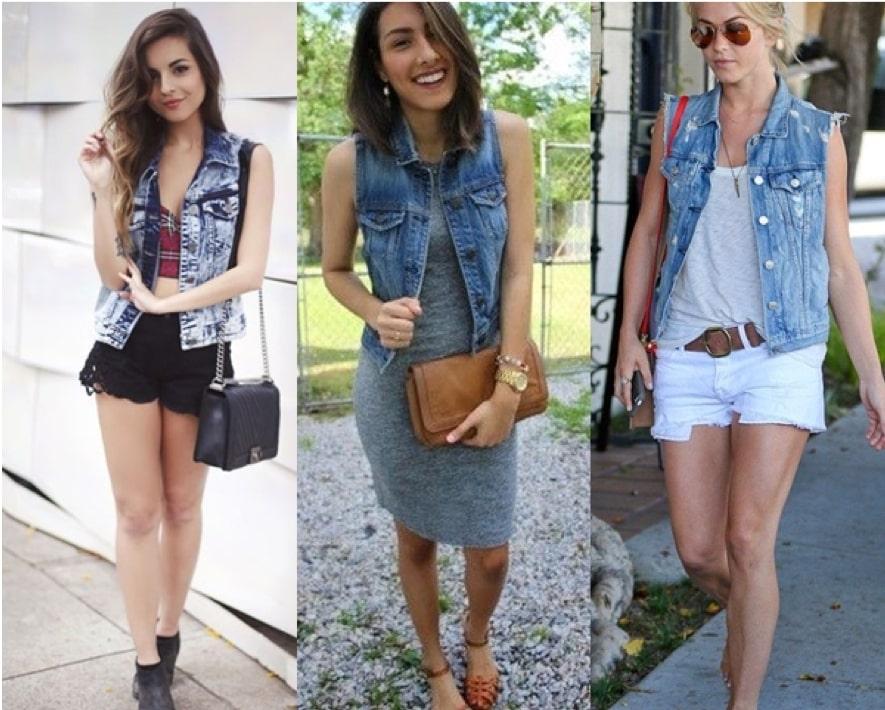 Colete jeans no verão