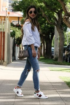 looks com tenis casual