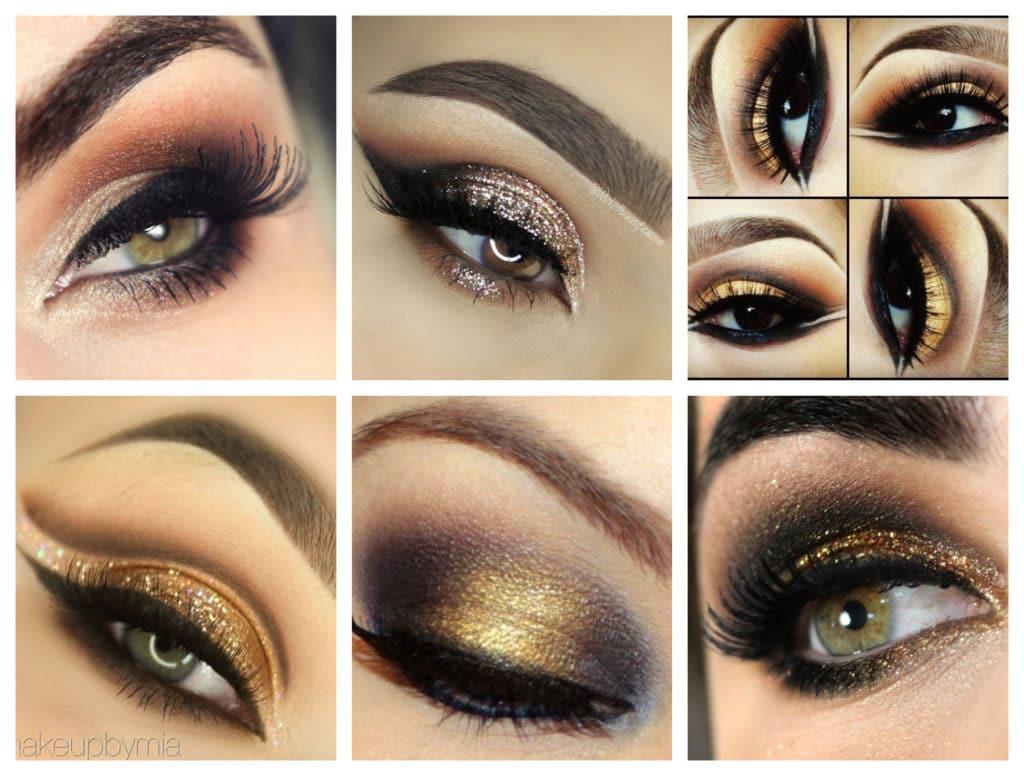 Maquiagem Dourada com Preto para Casamento
