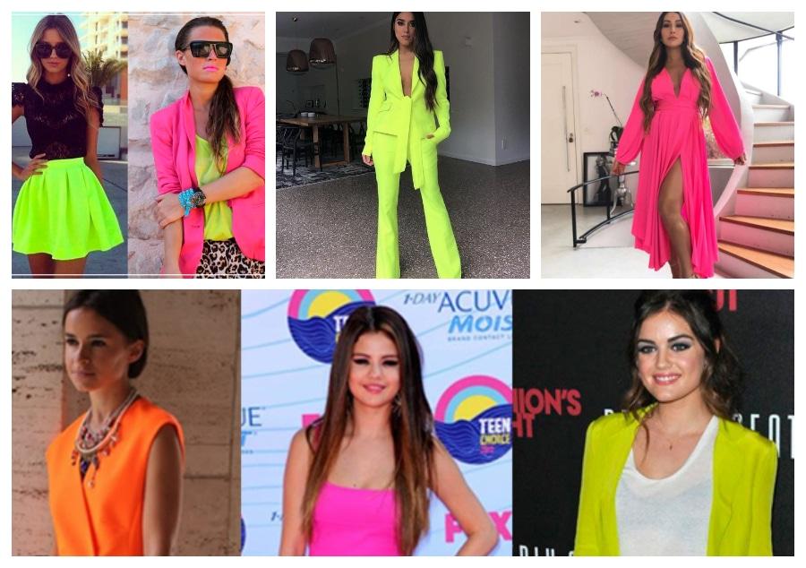 roupas look neon