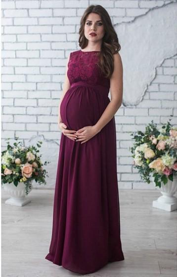 looks para gravidas com vestido