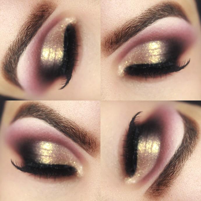 make dourada com marrom
