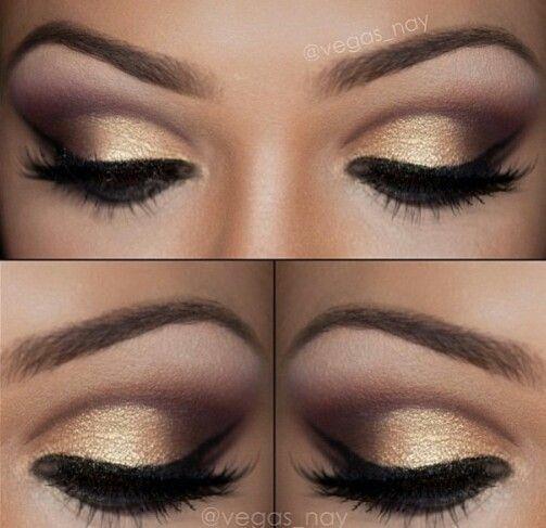 sombra dourada maquiagem