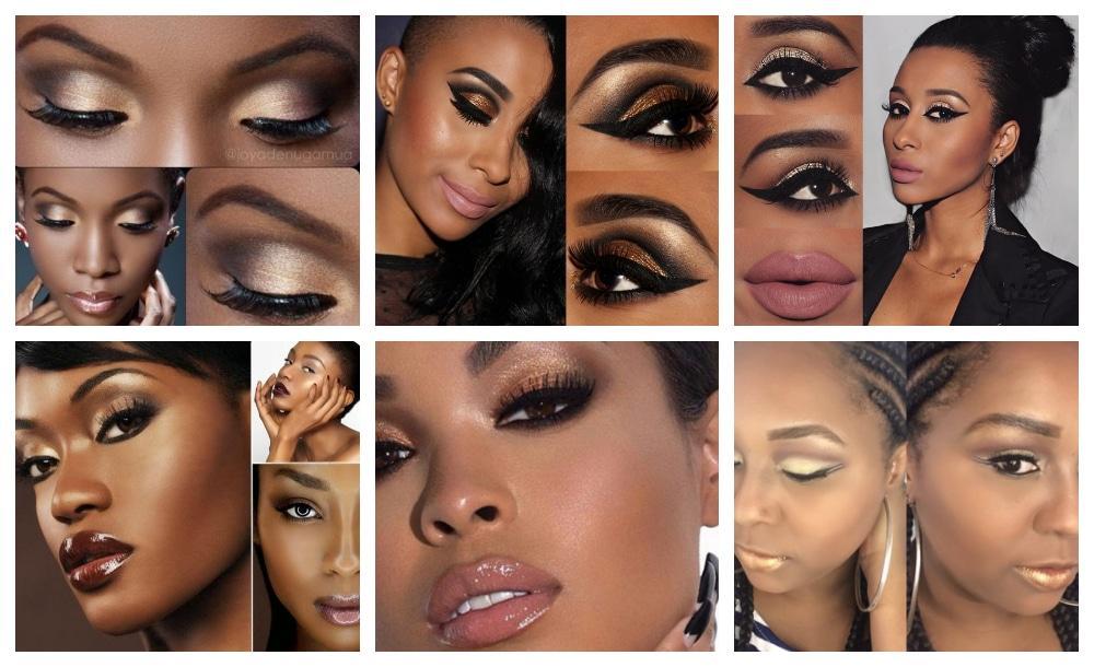 Maquiagem Dourada pele Negra