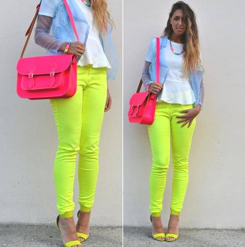 cores neon para roupa