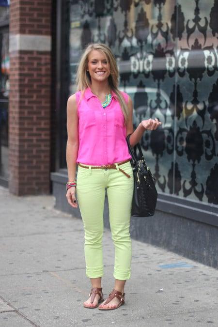 street style cor neon