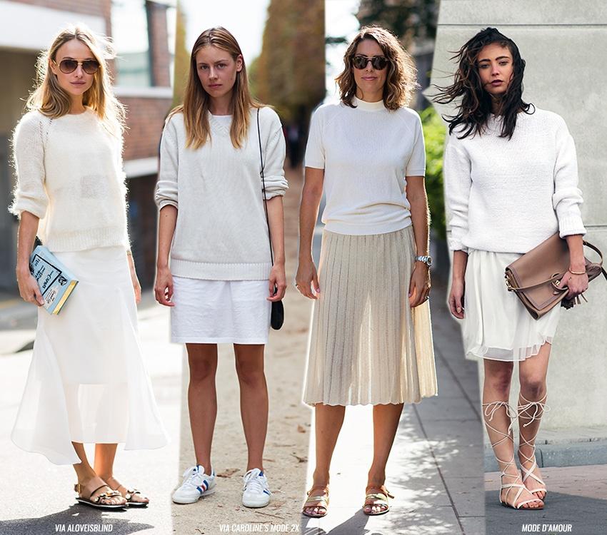 como usar saia branca