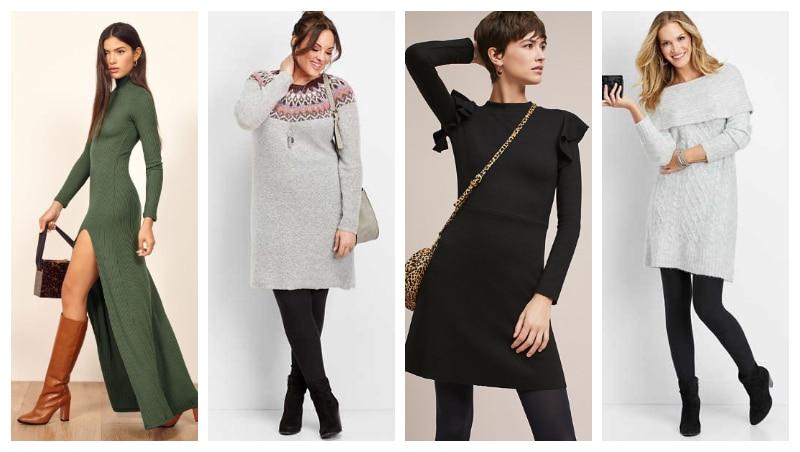 vestidos de inverno looks