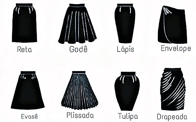 modelos de saias