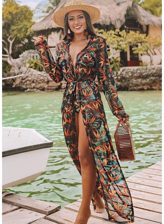 bc4263efb1c0 Além das saias, os vestidos e quimonos ficam incríveis, tanto em versões  mais longas, quanto nas mais curtinhas: