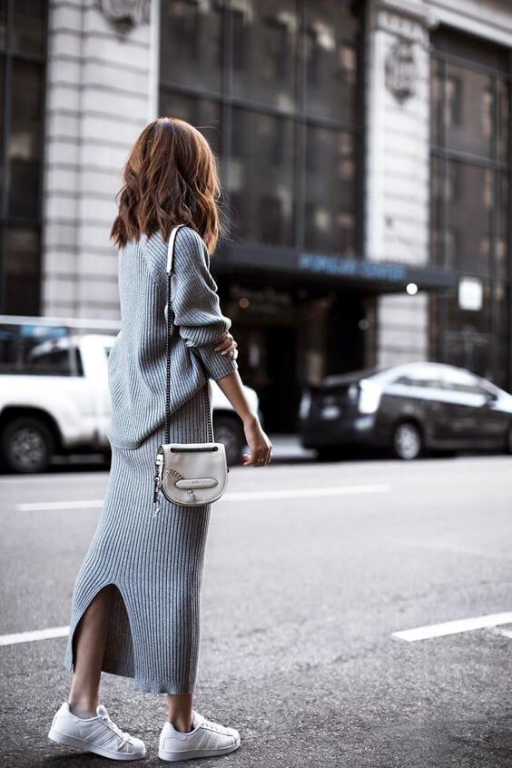 modelo de vestido longo para inverno