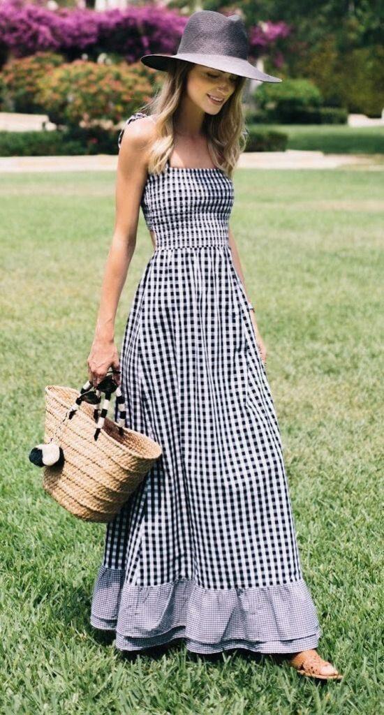 modelo de vestido longo para o verão