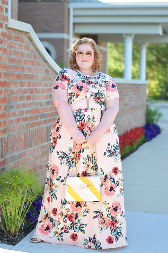 modelos de Vestidos longo estampado