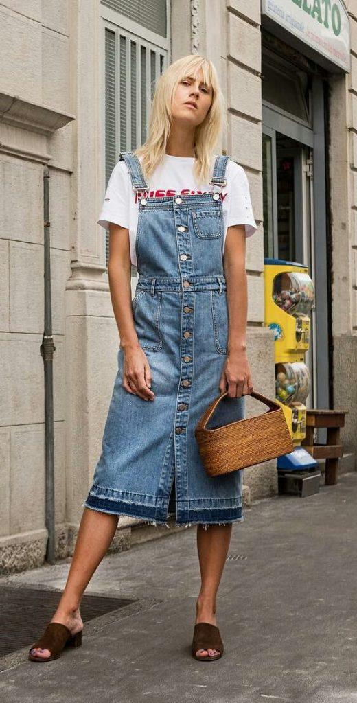 6efd0f996 E, por fim, as variações dos jeans dresses com botão também são  encantadoras.
