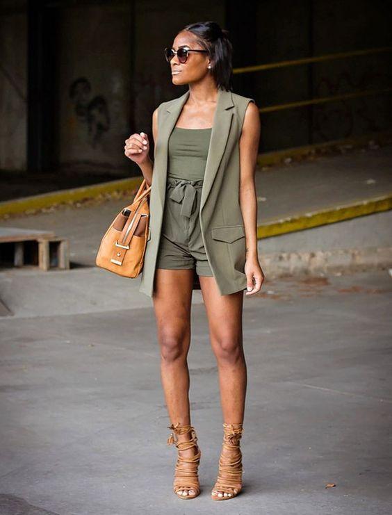 look com colete verde militar