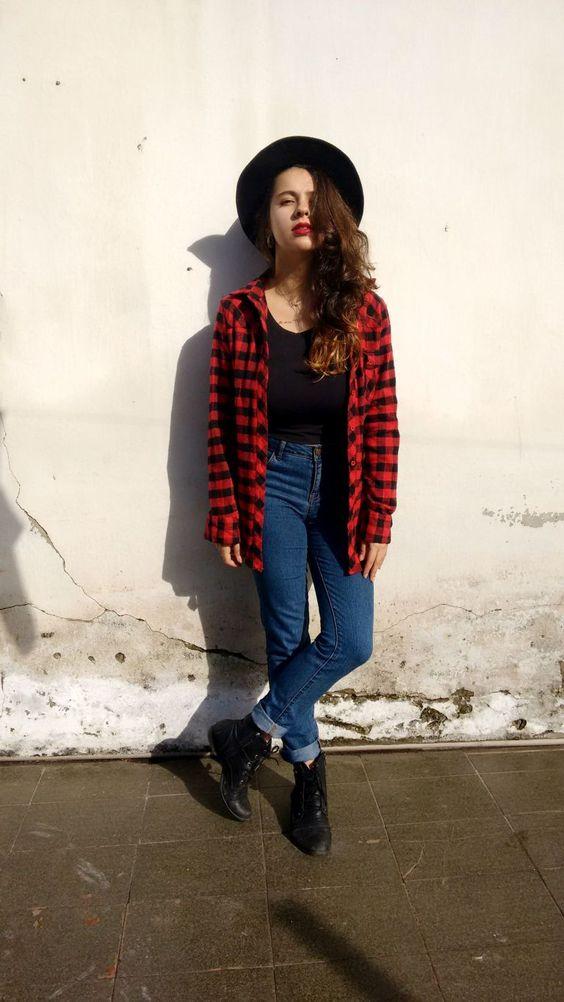 moda blusa xadrez 2019