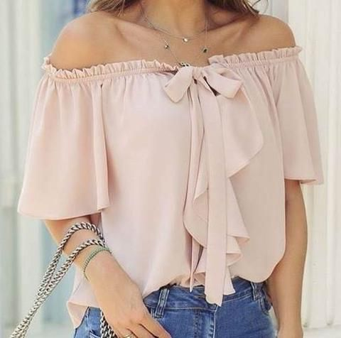 modelo de blusa ombro a ombro