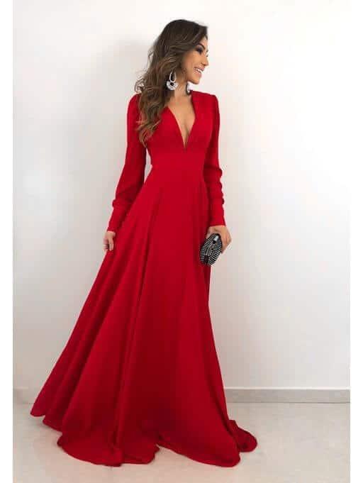 Modelos de vestidos de festa longo