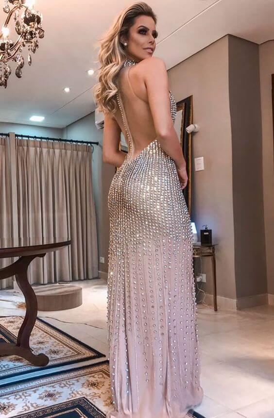 Modelo de vestido de festa: noite