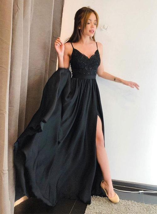 modelos de vestidos para formatura preto