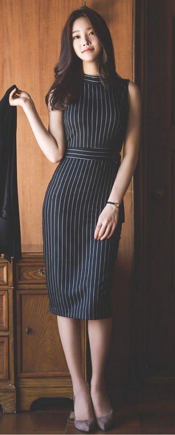 vestido tubinho listrado