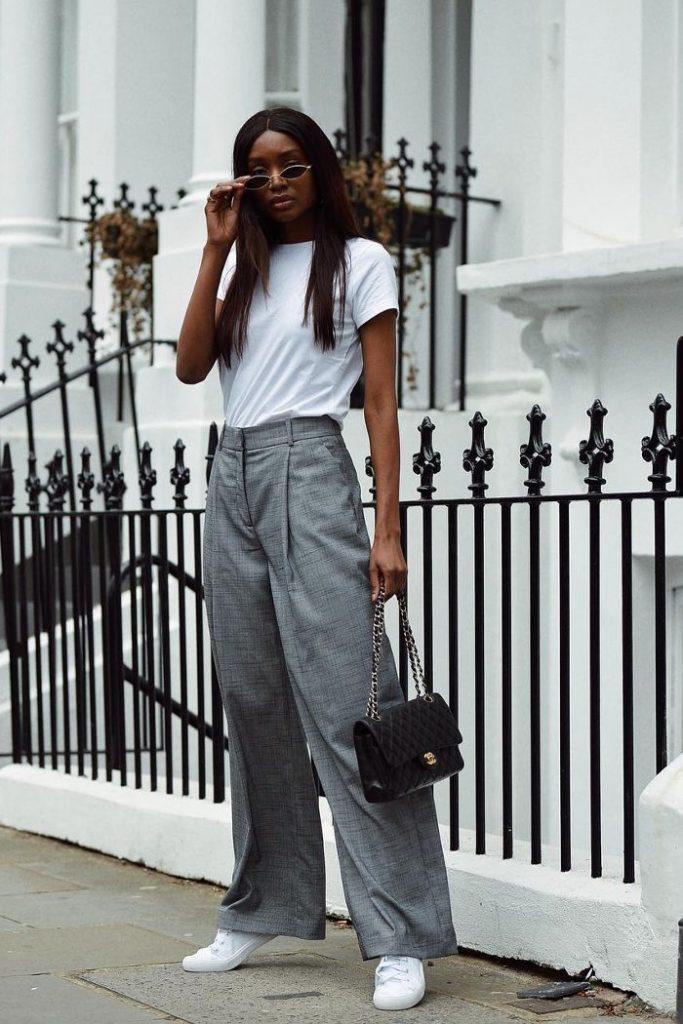 fashion looks com tênis branco