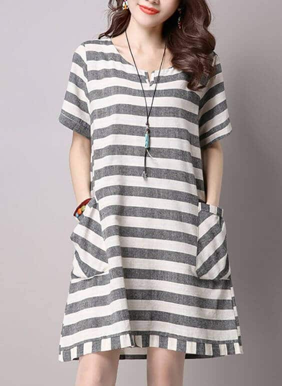 Modelo de vestido curto para mulheres altas