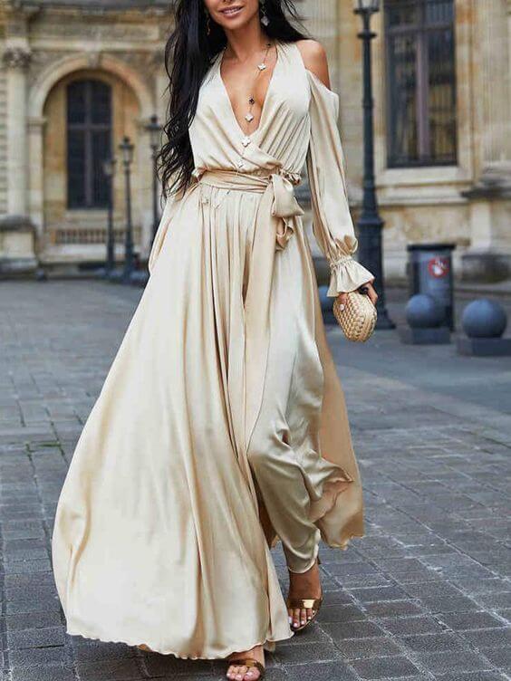 modelo de vestido longo