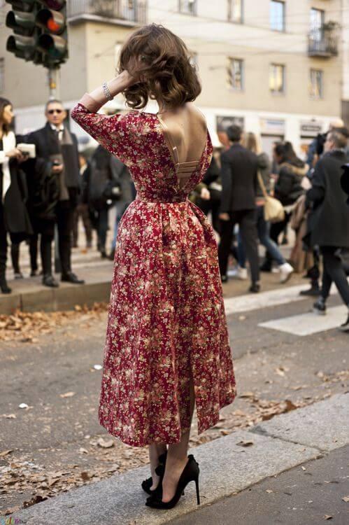 modelo de vestido midi