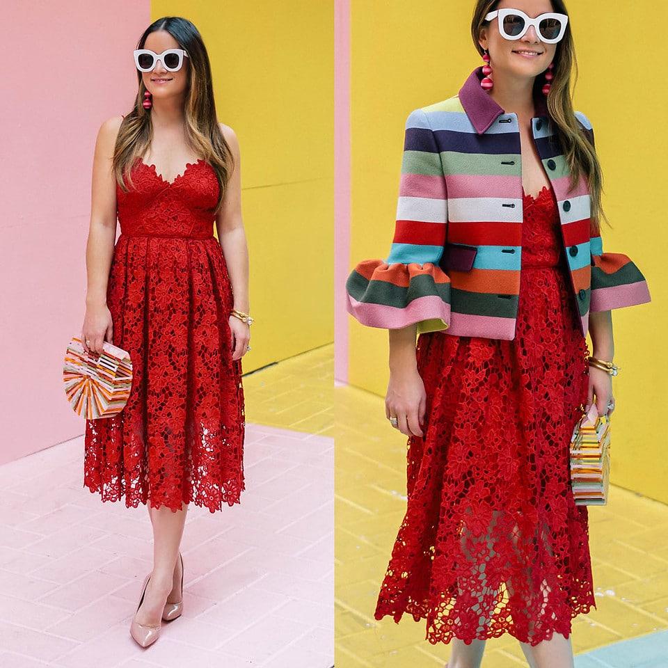 Modelos de Vestidos de Renda vermelho