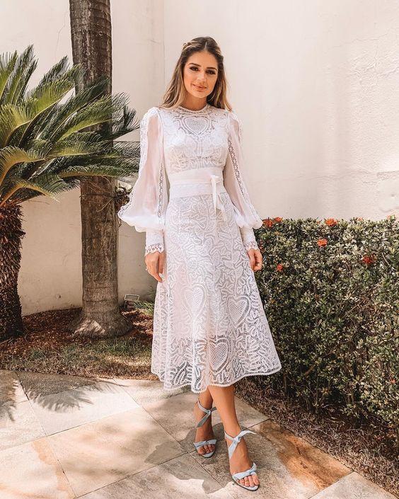 b7f486835 Modelos de Vestidos de Renda 2019  Do Romântico ao Boho  +FOTOS