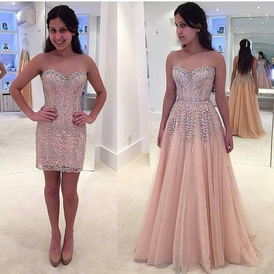 Modelo de vestido de festa para debutantes