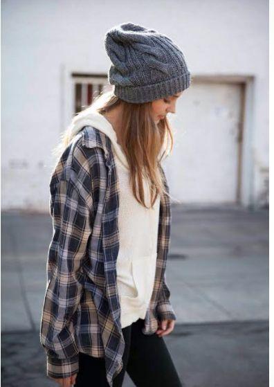 camisa xadrez com calça jeans