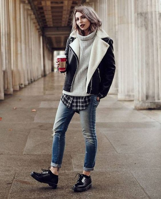 camisa xadrez com jeans