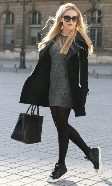 meia calça e vestido