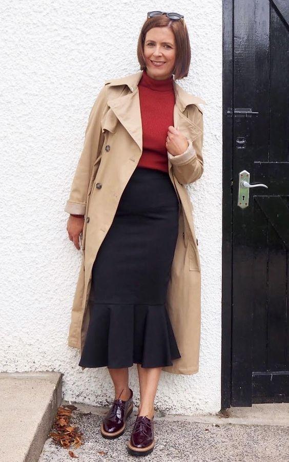 looks com sapato Oxford feminino