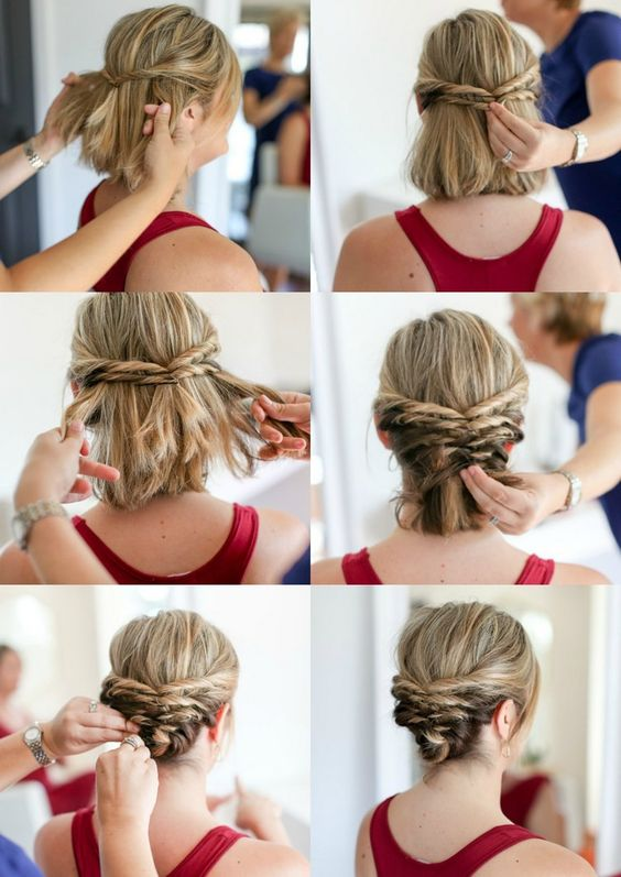 DIY - Penteado preso para cabelos curtos