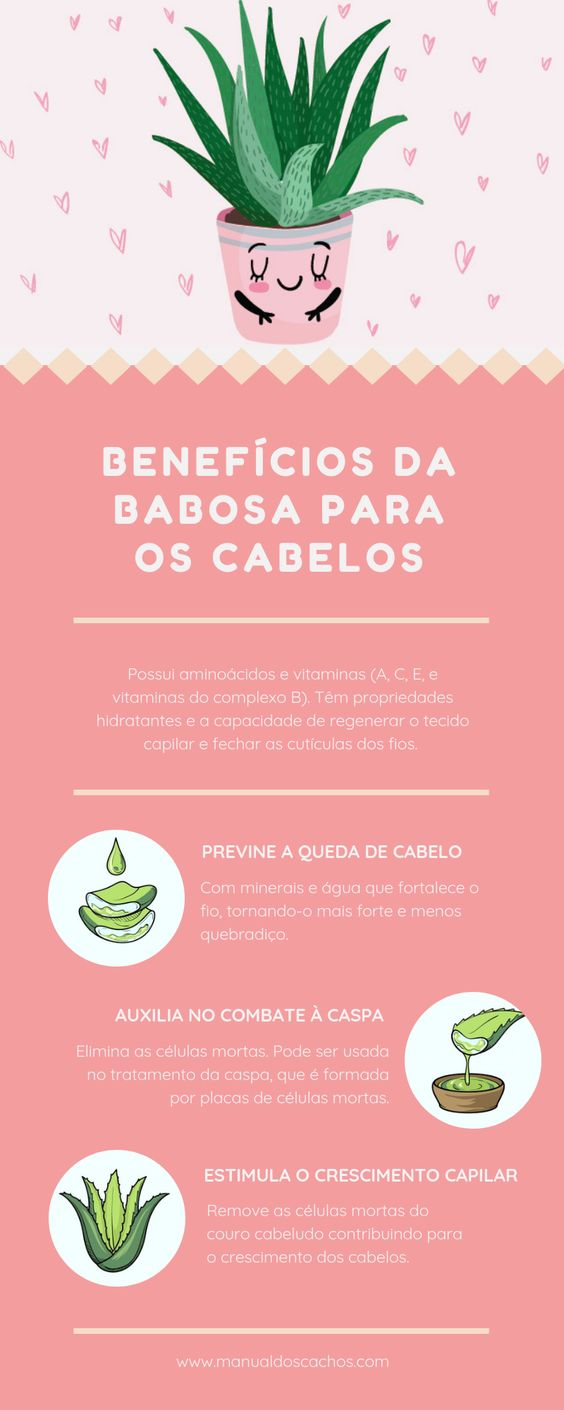 benefícios da babosa para os cabelos
